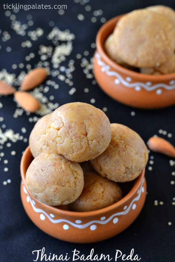 Thinai-Badam-Ladoo-Recipe