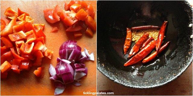 how to make capsicum chutney step-1