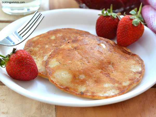 eggless wholewheat moist pancake recipe
