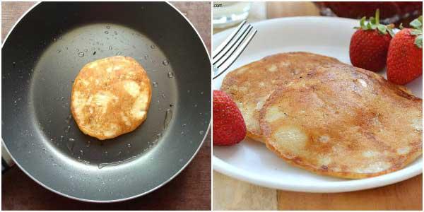 how to make eggless pancakes-3