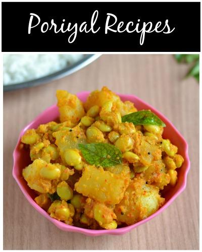 poriyal recipes