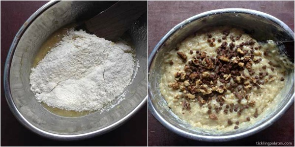 Eggless banana bread step-3