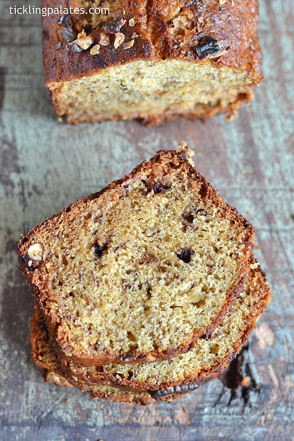 Eggless banana loaf recipe