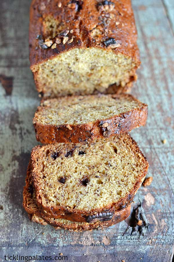 Eggless banana loaf