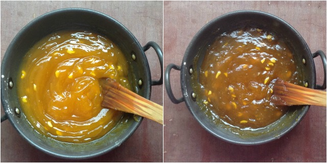 How to make Custard Powder Halwa step 2