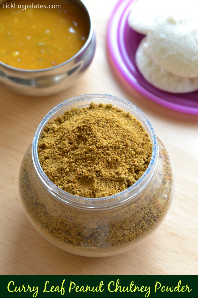 Curry Leaf Peanut Idli Milagai Podi