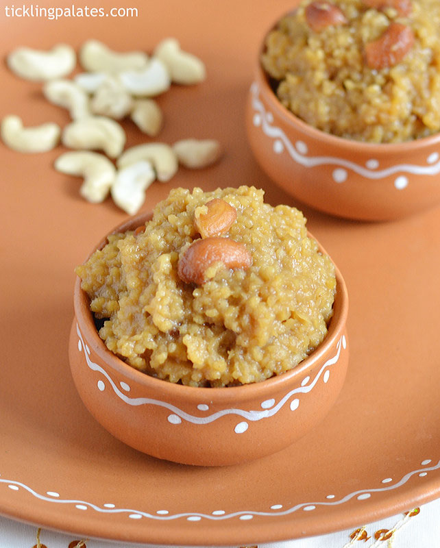 Foxtail millet sweet pongal recipe