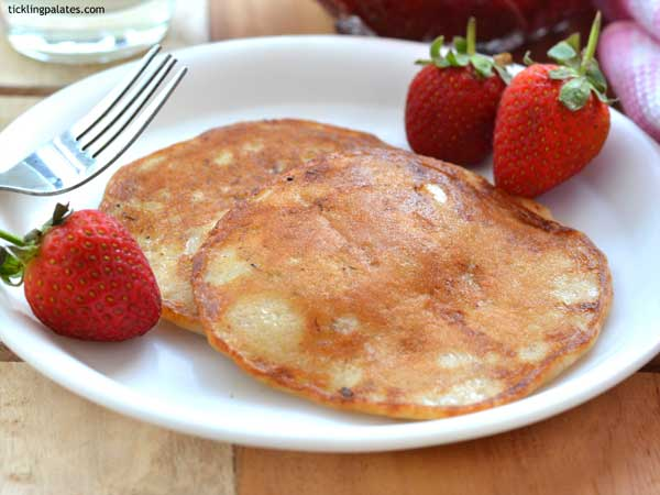 eggless wholewheat moist pancake recipe