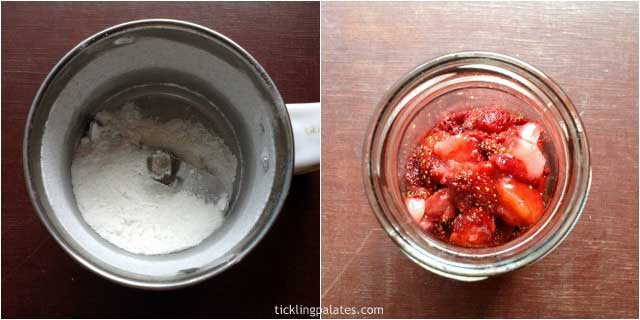 how to make microwave strawberry cobbler-1
